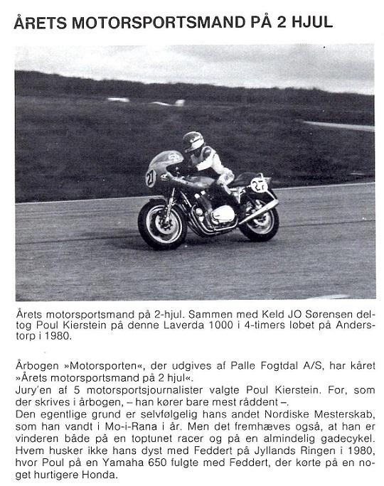Årets Motorsportsmand på 2 hjul 1980. MB jan/febr. 1981.