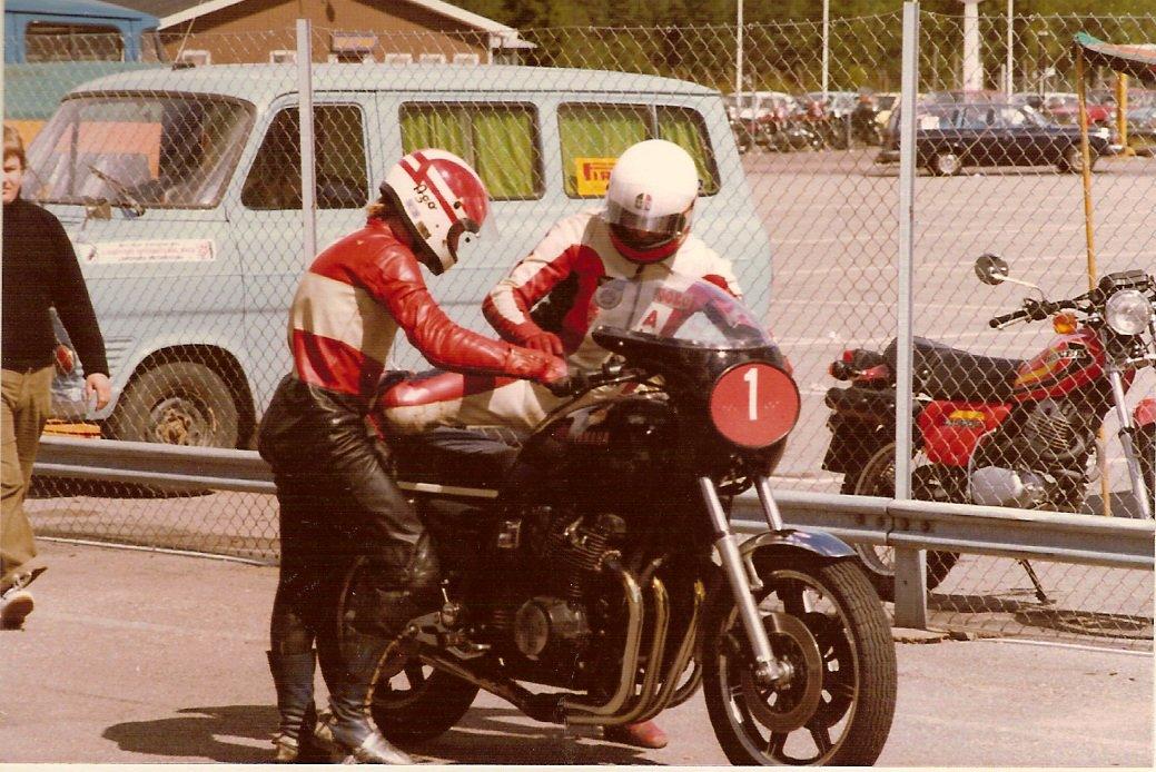 4-timers løb på Anderstorp 1979. Paul dannede par med Alex Rasmussen til højre.