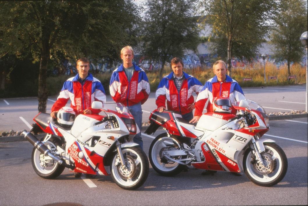 Et andet teambillede. Fra venstre Anders Rasmussen, Michael Lyngkilde, Kai Nielsen og Paul.