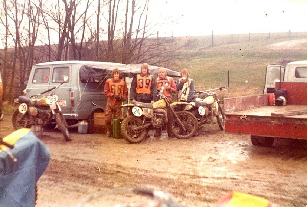 1. afd. af landsturneringen 1977. Fra venstre Kim, Palle Winther, Poul Jensen (Mælke Poul), Ove Jørgensen.