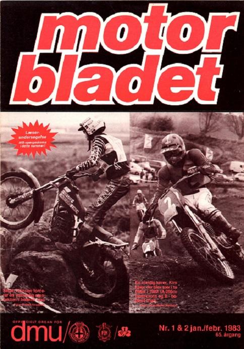 Med sine 2 stk. DM placeringer kom Kim på forsiden af Motorbladet.