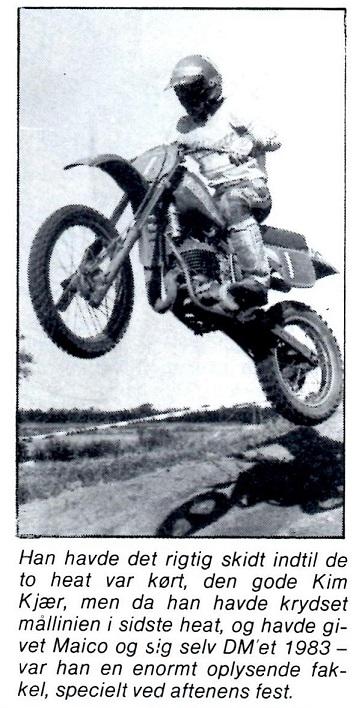 Danmarksmester 1983 på Maico 250cc. MB nov. 83