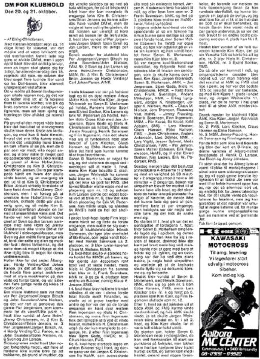 Motorbladets reportage fra det første DM i Hold-cross som AMK vandt efter et meget tæt opgør med FMS.