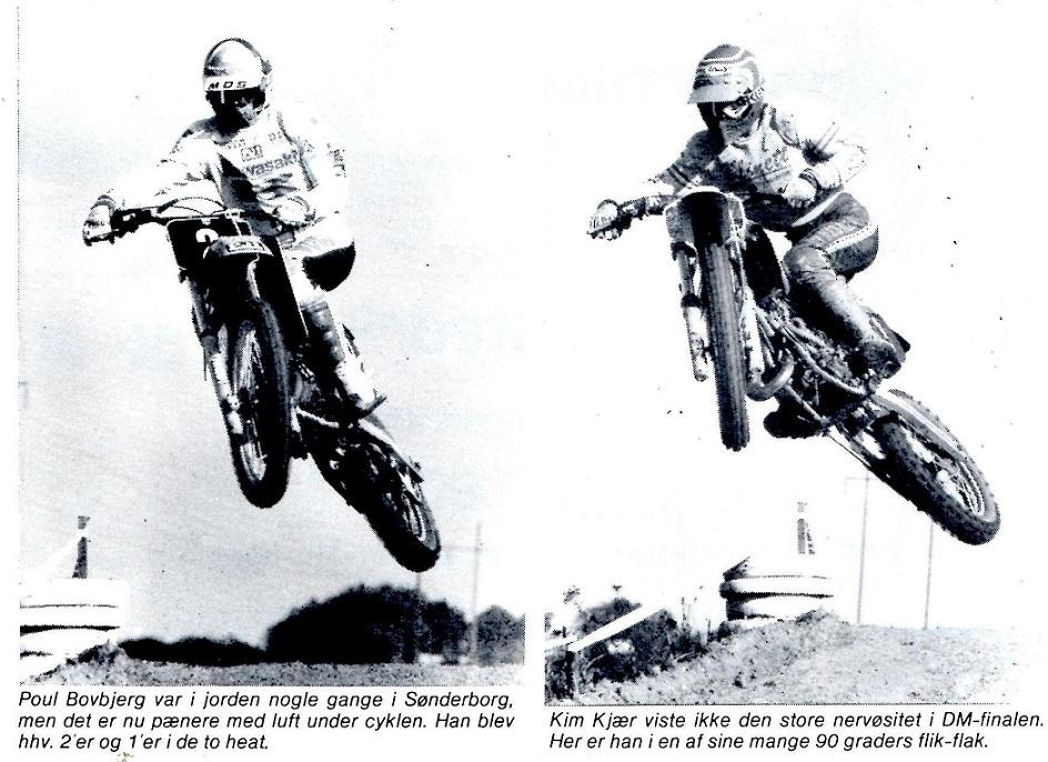 Kim og Povl Bovbjerg duellerede tæt om DM-titlen i 1985. Her er de afbilledet side om side i Motorbladets reportage fra sidste DM afd.