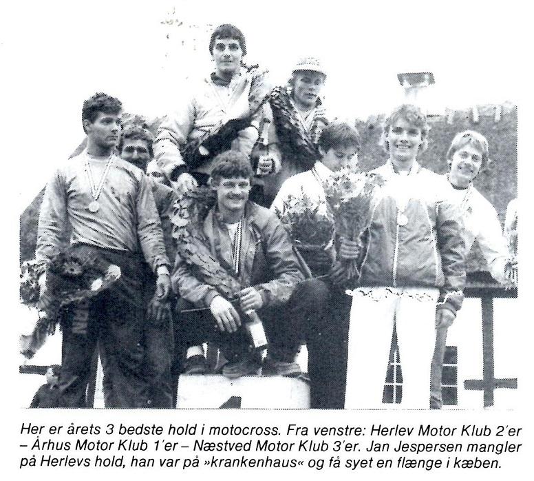 AMK genvandt titlen i DM-hold-cross. I 1985 blev det kørt på Nissebjerget. MB nov.