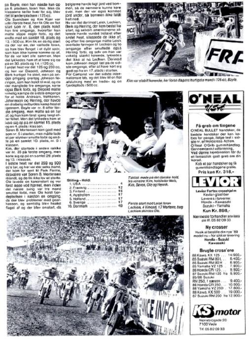 Motorbladets reportage havde også et billede af holddeltagerne og et solobillede af Kim. MB okt.