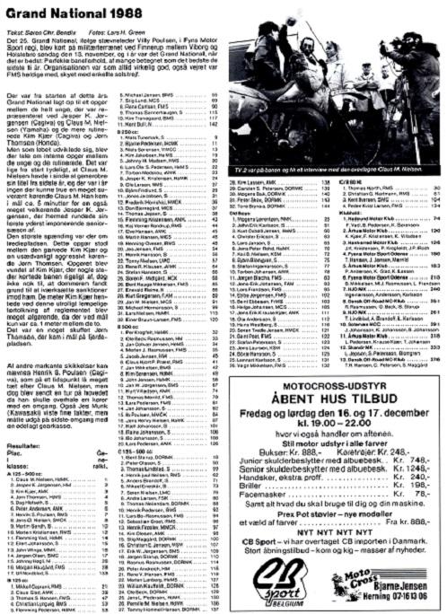 Grand National gav i 1988 en ny 3. plads til Kim, og han var med til at sikre AMK 2. pladsen i klubkonkurrencen sammen med Kurt Villadsen og Flemming Kristensen.