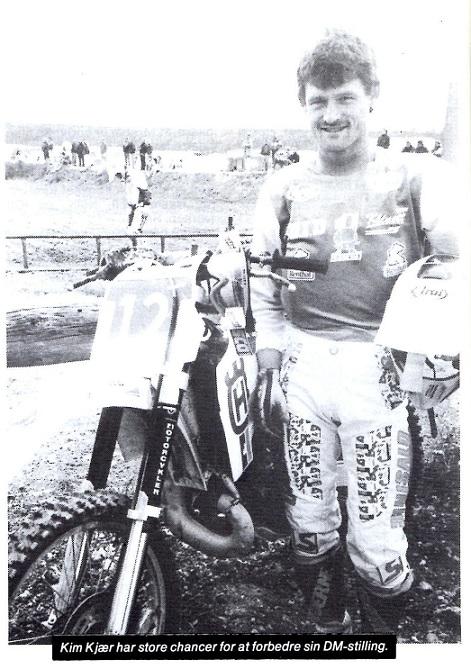Kim kørte i 90 Husqvarna 250cc og ses her på et godt billede i MB sept. 90.