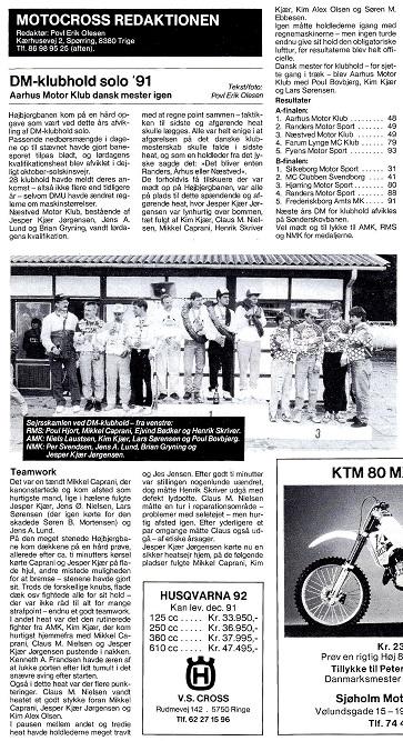 Motorbladets reportage fra DM-Hold 91.