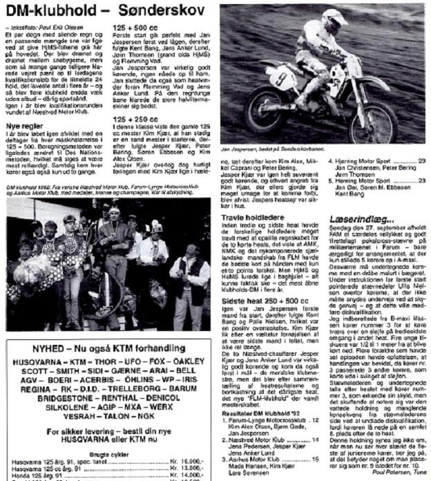 DM-Hold 1992 gav en 3. plads til Kim, Lars og Mads Hansen.