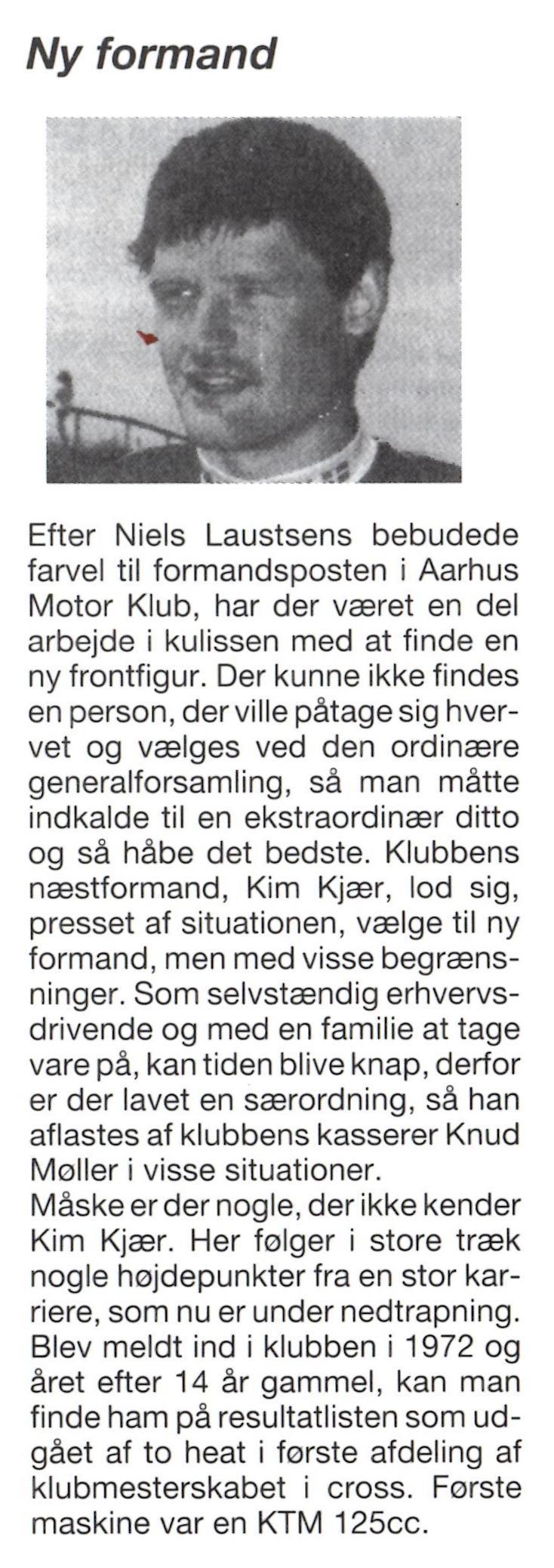 1995-05 Klubblad Kim Kjær Formand img1