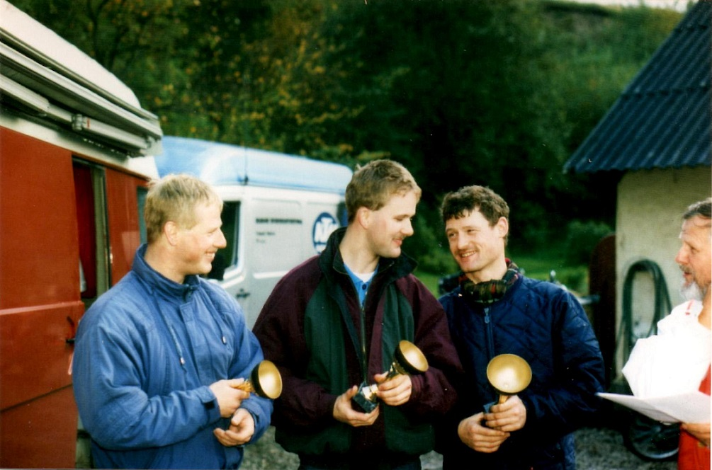 Klubtrial i Sabro okt. 93. Karsten Laustsen, Sune Utoft og Kim.