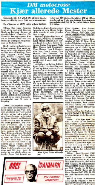 Et bladklip om Kims tidlige sejr i 1984.