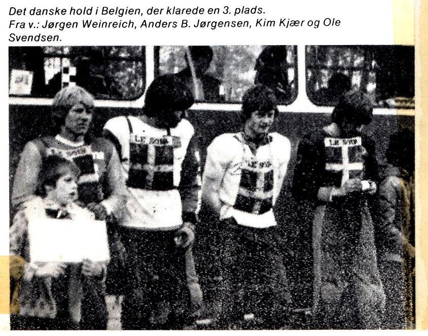 Kim blev udtaget til et holdløb i Belgien 1978. Her billede af holdet fra Motorbladets omtale.