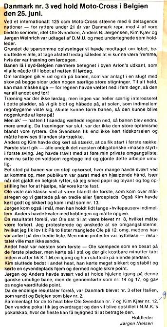 Holdlederens reportage fra Belgien.