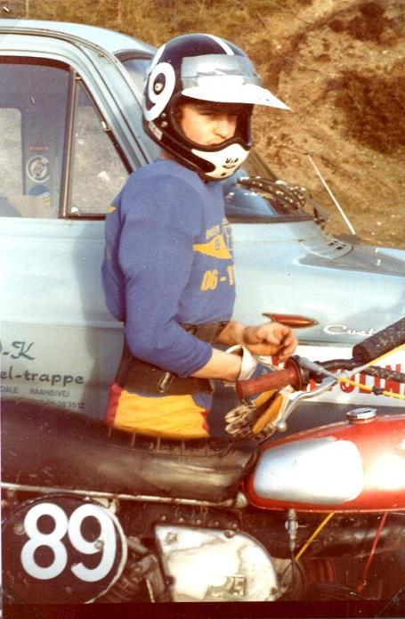 Kim til H-trial i Ålborg 1977.
