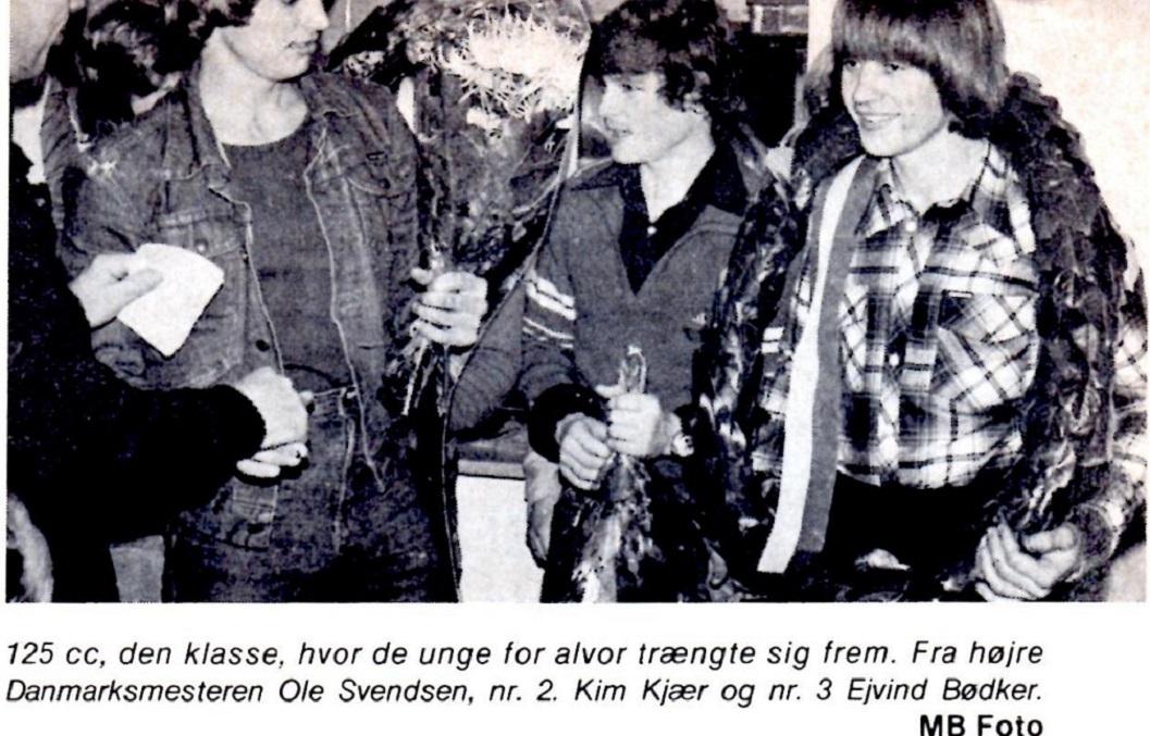 1978 blev første år, hvor Kim opnåede en top tre placering i DM Cross. Her ses han i Motorbladets reportage fra DM nov. 78.