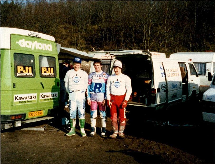 DM Hold 1987. Povl, Søren og Kim klar til kamp for mesterskabet.