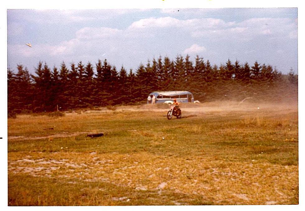 Elling 25. aug. 1973. Kim til sit første løb, et klubløb.