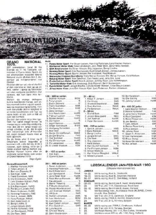 En ny god præstation i Grand National, hvor Kim blev nr. 4 i Generalklassementet og vandt 125cc klassen.