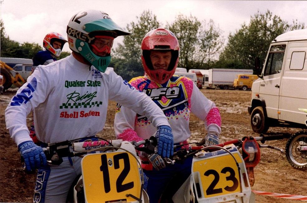Lars Sørensen og Kim dystede sammen i 500cc klassen i 1992.