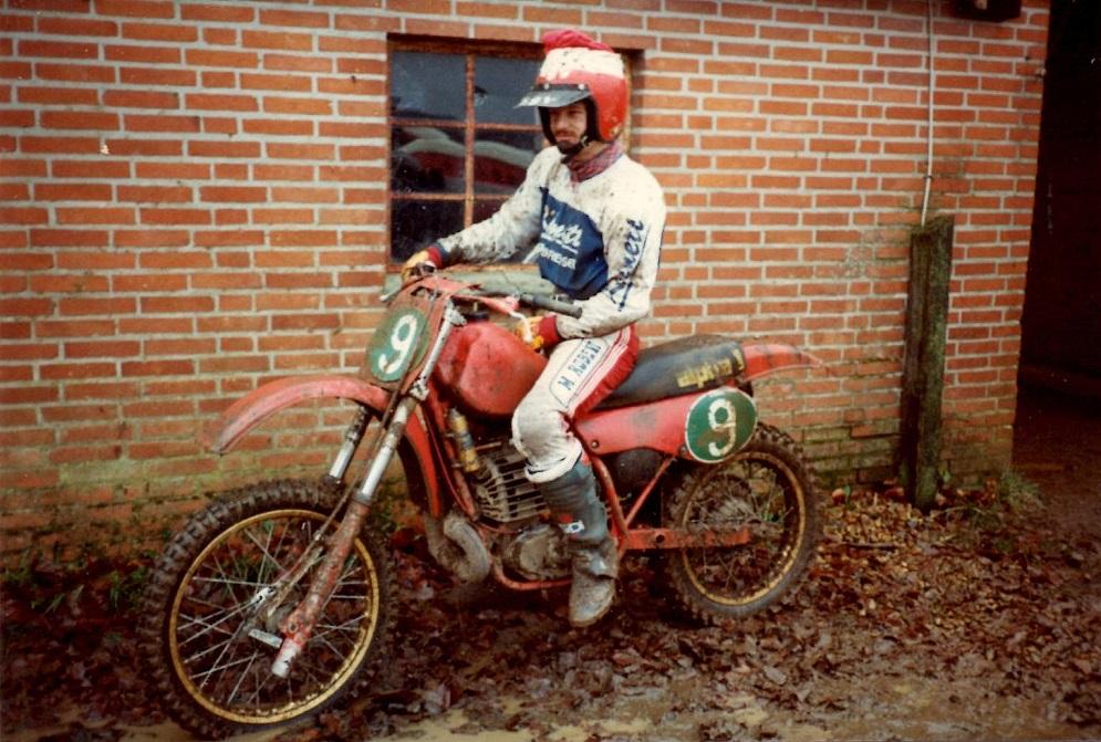 Startklar på Maico`en til Nissetrial 1982