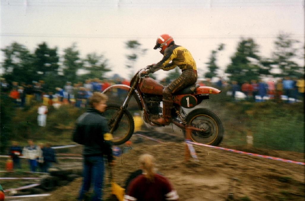 Sidste DM afd. 20. sept. 1981 Nybøl. Nu er det blevet Maico 250cc.