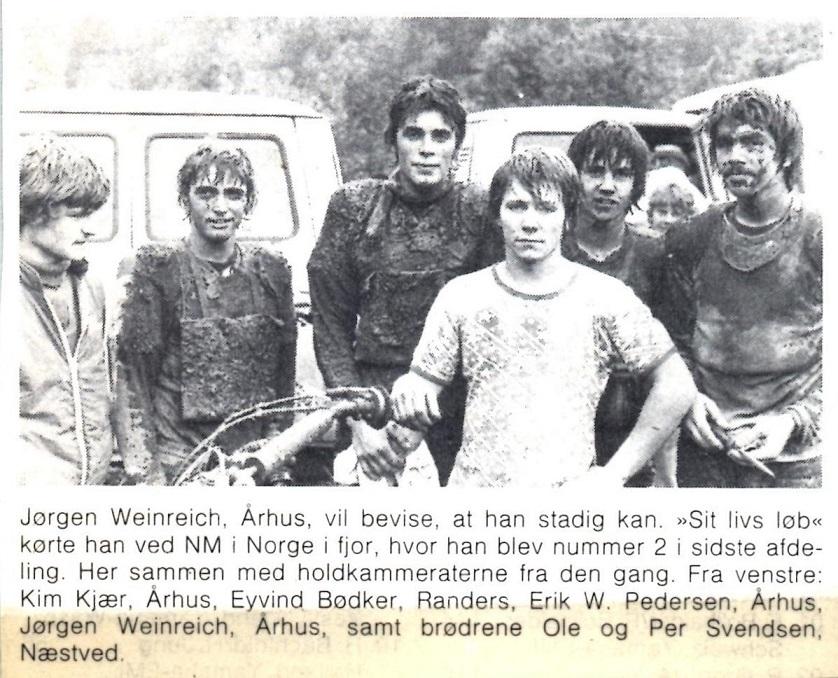 Holdet fra NM Norge 1978 i en avisforomtale inden NM 79.