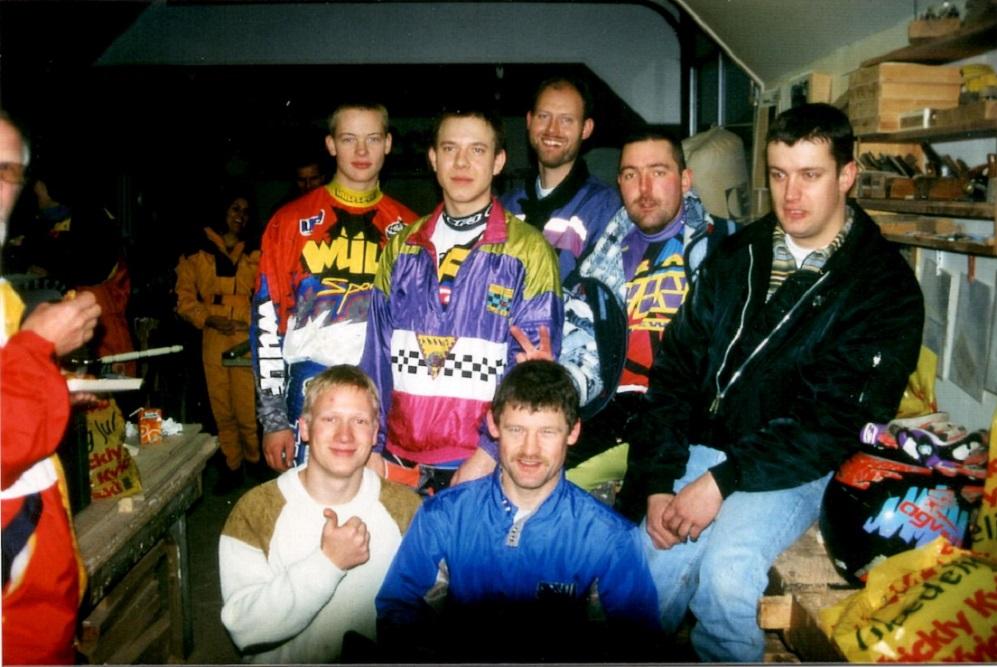I en del år var Kim arrangør af X-mas trial, der blev afholdt på hans ejendom i Stautrup. Her dec. 97.