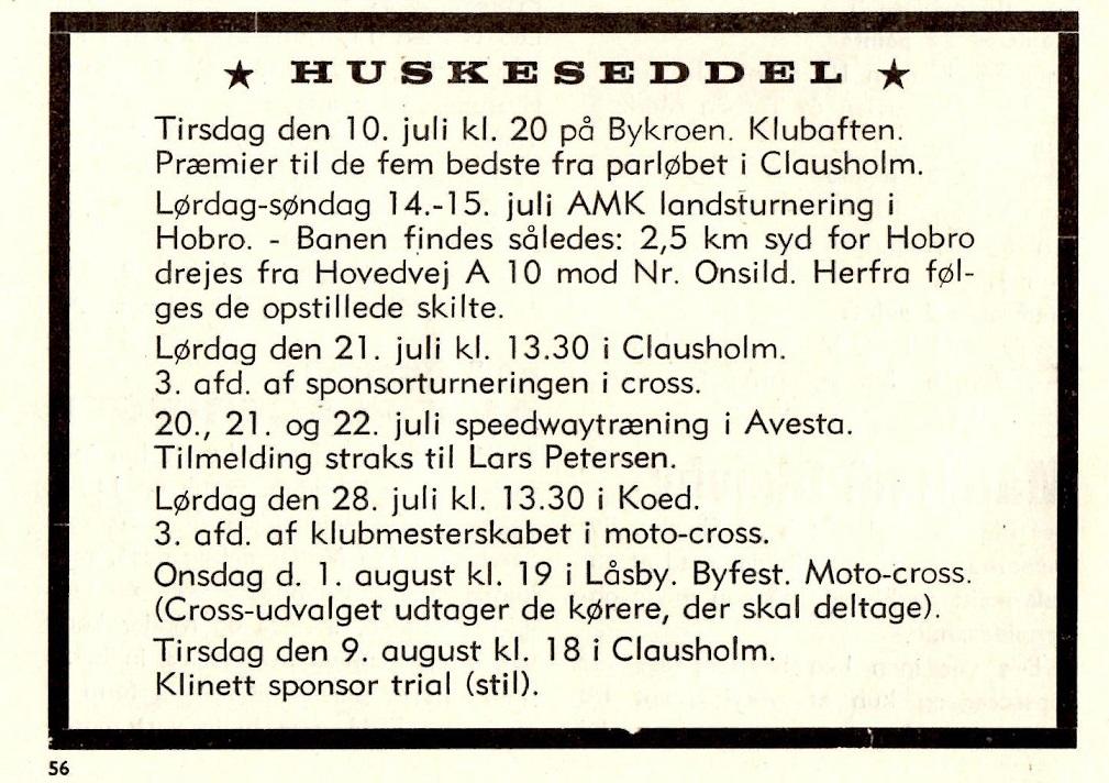 1979-07 Klubblad Låsby. Man bemærker, at klubben udtager de kørere, som skal deltage, som det ofte blev tilfældet.