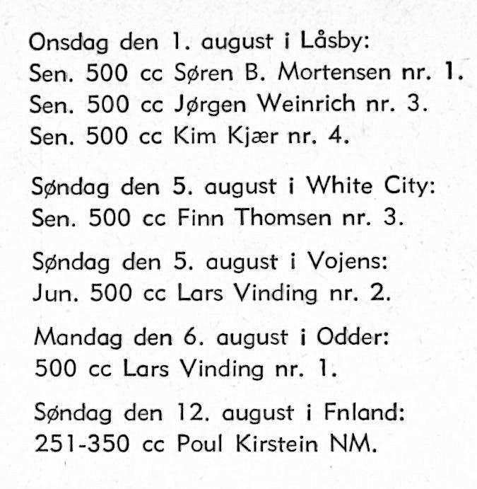 1979-09 Klubblad Låsby. Kun resultater for klubbens kørere er kort nævnt.