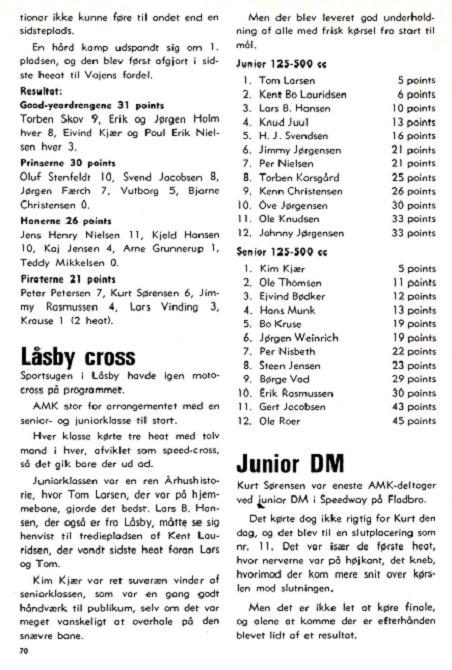 1980-09 Klubblad Låsby Cross torsdag d. 7. aug. Denne gang var referatet lidt mere fyldigt.