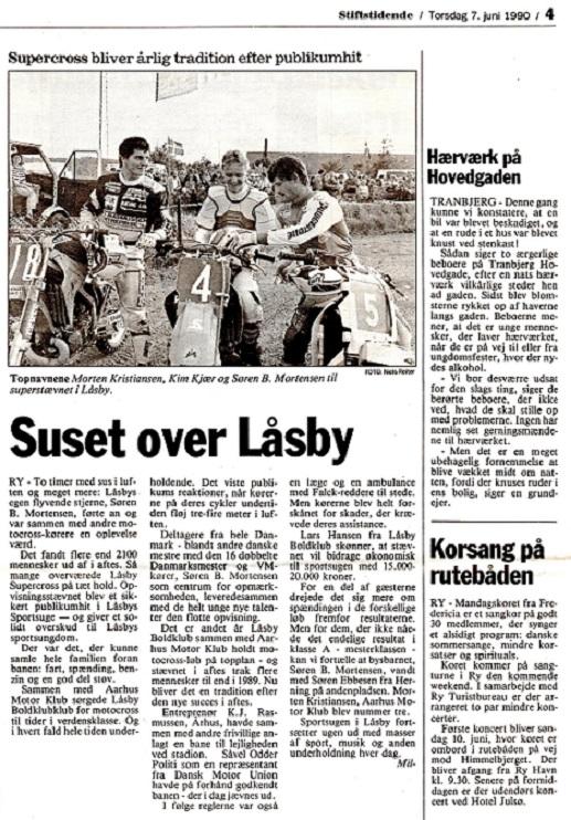 Avisklip Låsby Cross 7.juni 90 img2