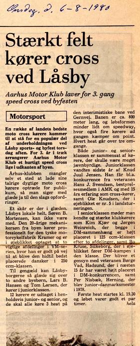 Avisklip foromtale Låsby 6. aug. 80 img1