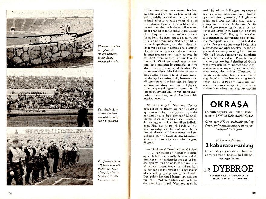 Poul Sørensen skrev denne artikel om turen til Motorbladets juli nummer 1956 img2.