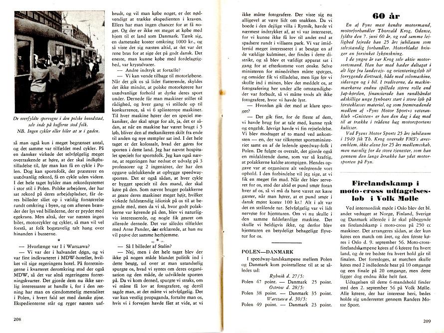 Poul Sørensen skrev denne artikel om turen til Motorbladets juli nummer 1956 img3.