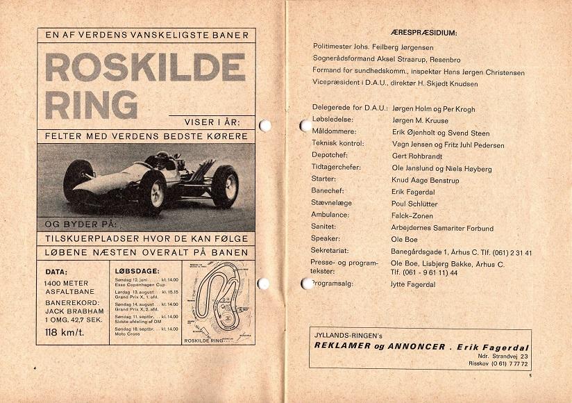 Efter tiden i AMK slog Gert Rohbrandt sine folder i AAS, hvor han også var med som depotchef ved Jyllands-Ringens åbningsløb i 1966.