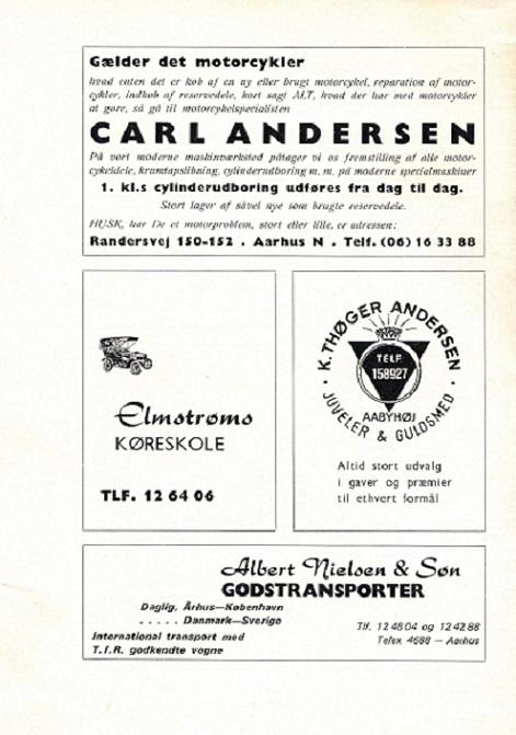 Albert Nielsen og Søn. Klubbladsannonce aug. 69.