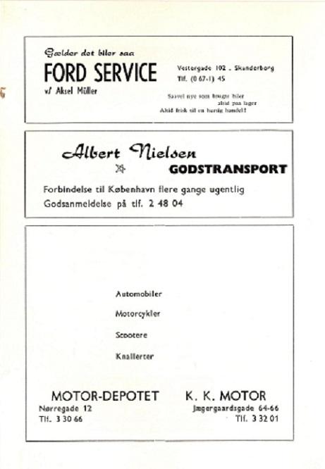 Albert Nielsen. Klubbladsannonce dec. 62.