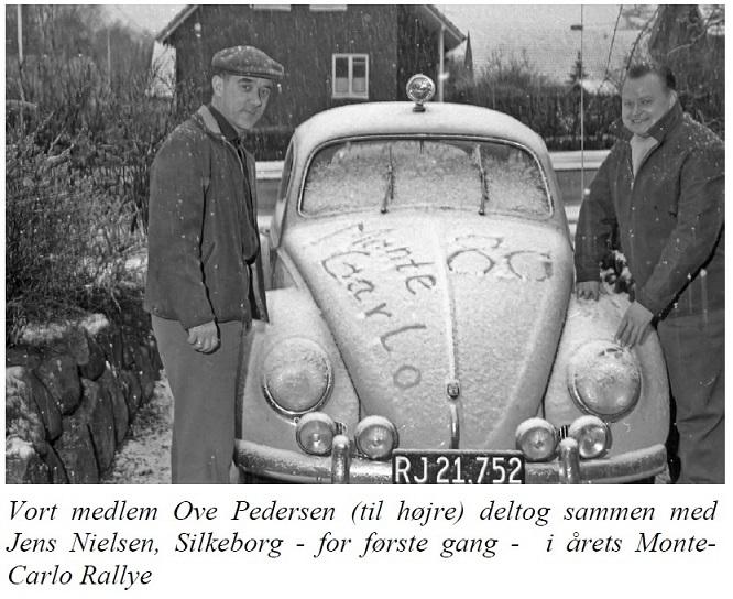 Efter tiden i AMK gik Ove  til AAS, hvor han deltog i automobilløb. Her et klip fra AAS-hjemmesiden 1961, hvor Ove havde været observatør hos Jens Nielsen i årets Monte Carlo Rally.
