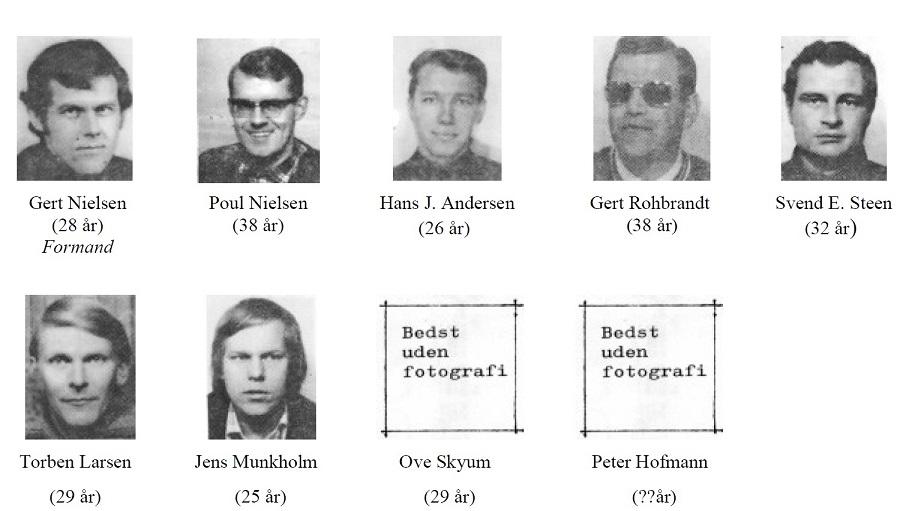 Fra tiden i AAS. Her et klip fra AAS hjemmesiden, hvor man kan se Gert som medlem af deres bestyrelse i 1974. Her kan også bemærkes en ung Jens Munkholm, som mange vil kende fra samarbejdet omkring løb på Jyllands-Ringen.