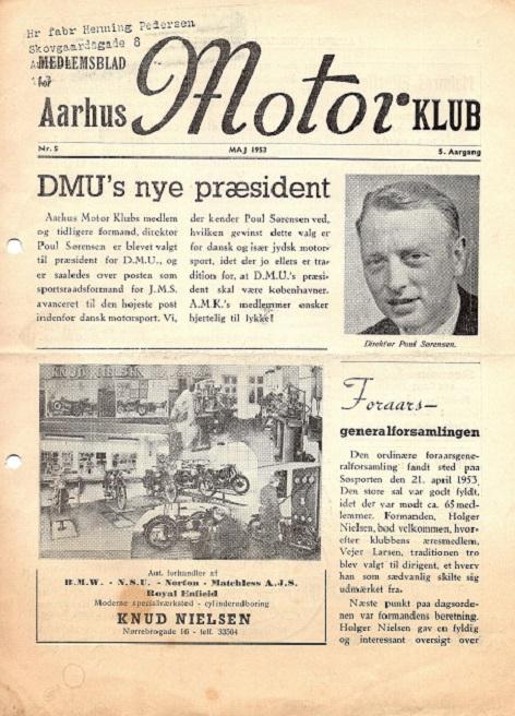 Klubbladet markerede Poul Sørensens valg som DMU´s præsident.