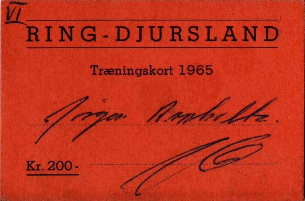 Ring Djursland banen ved Jens Chr. Legarth udstedte sådanne sæsontræningskort.
