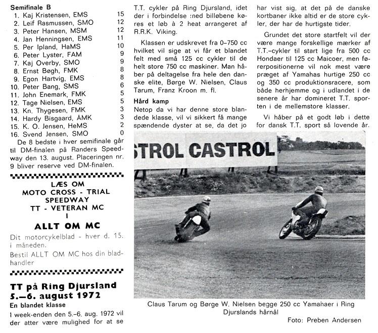 1972-08 MB Løb Ring Djurs 5-6 aug. Foromtale