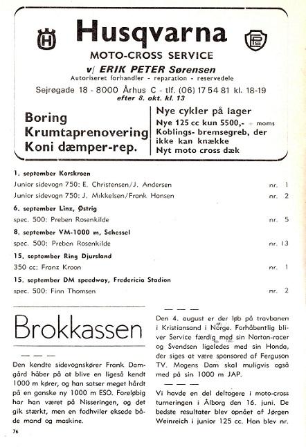 1974-10 Klub Franz nr 1 Ring Djurs