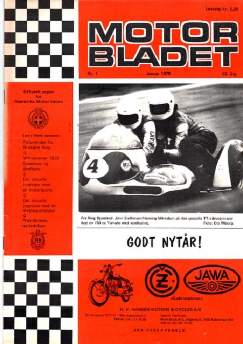 - og det blev brugt på forsiden af Motorbladet i januar 78.
