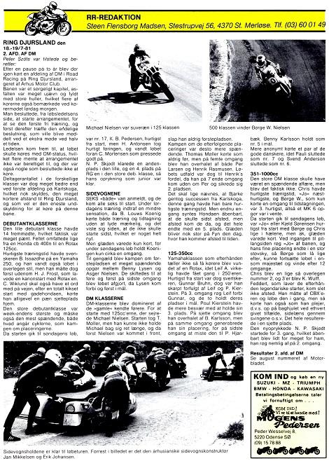 1981-09 AMK Ring Djurs 2.afd.DM omtale
