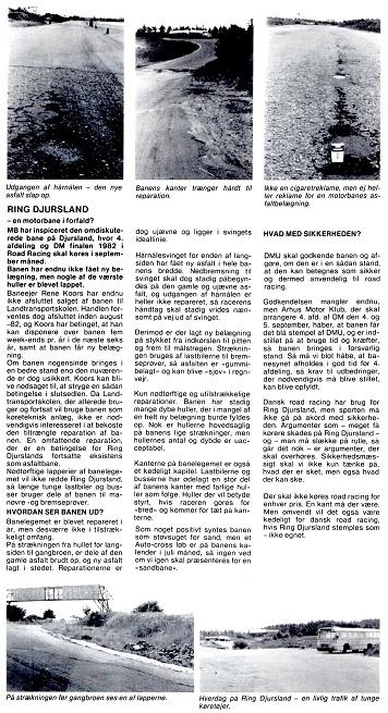 Steen Flensborg havde denne artikel med fotos omkring asfaltens dårlige stand i Motorbladets august nummer.
