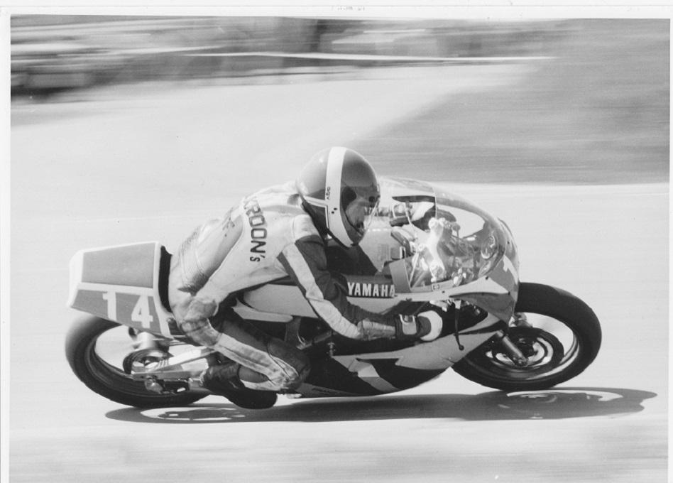 Paul Kierstein på sin 250cc racer.