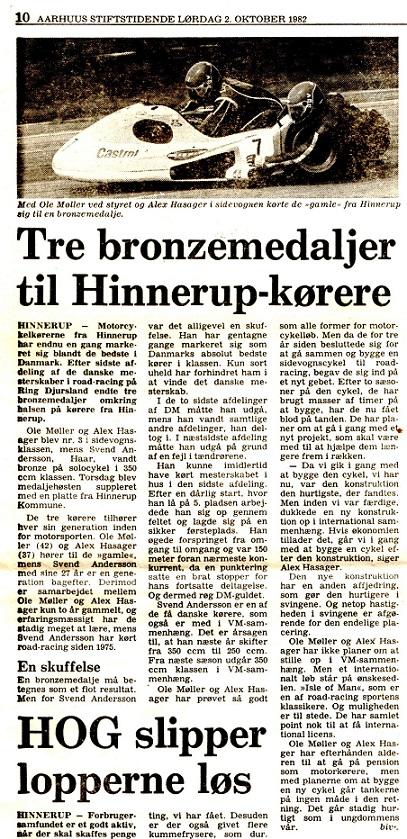 Stiftens omtale af Ole Møller og Alex Hasagers bedrift.